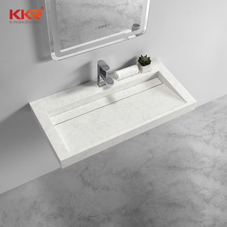 Luxury Design High-end Solid Surface Wall Hung Basin