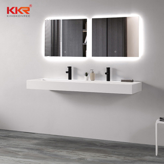 Artificial Wall Vanity Basin White Bathroom Sink Hand Washbasin