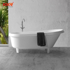 White Solid Surface Retro Bathtub With Clawfoot