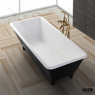 Black solid sdurface bathtub KKR-B031