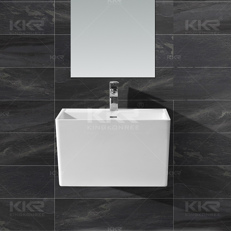 Solid Surface Wall Hung Basin KKR-1593