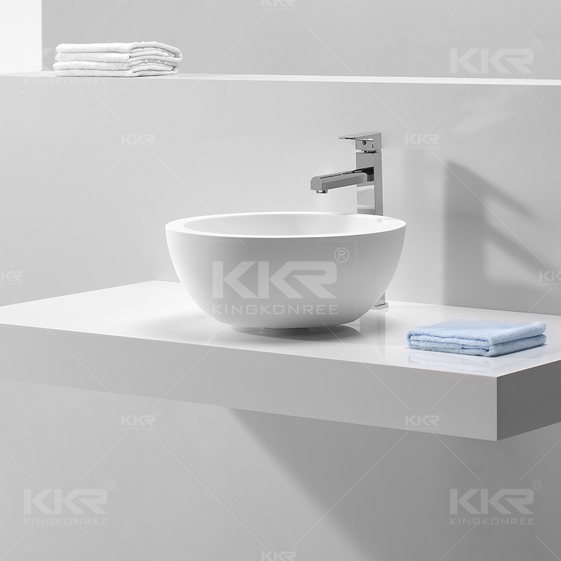 Sink Bathroom Resin Stone Basin KKR-1501