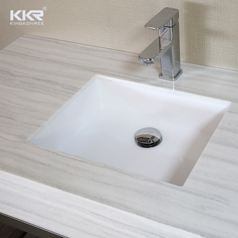 Texture Marble Pattern Solid Surface Vantiy Top With Undermount Sink