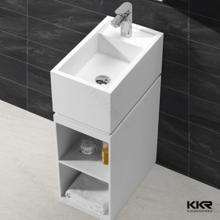 Small Resin Stone Pedestal Basins KKR-1585