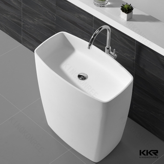 Artificial Stone Freestanding Wash Basin KKR-1586